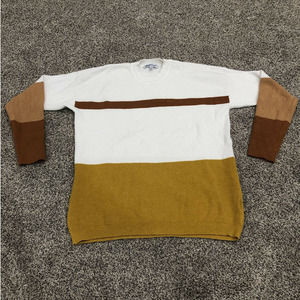 Lucy Avenue Ribbed S Sweater Colorblock Long Sleev